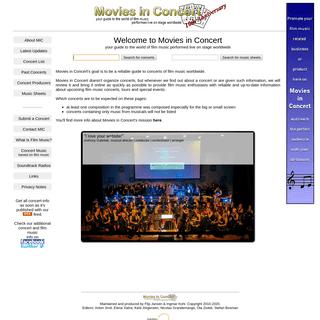 Movies In Concert - film music live in concert (soundtrack, score, event, ticket, filmmusik, konzert, karte)