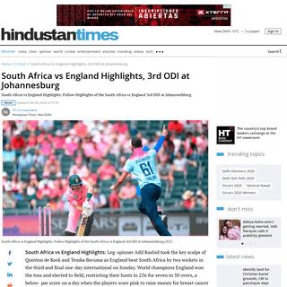 ArchiveBay.com - www.hindustantimes.com/cricket/south-africa-vs-england-live-score-3rd-odi-at-johannesburg/story-y6niehzhqVwoSS7pkntCAI.html - South Africa vs England Highlights, 3rd ODI at Johannesburg - cricket - Hindustan Times