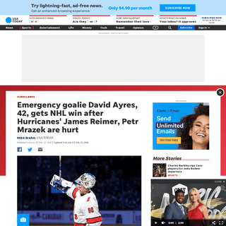 ArchiveBay.com - www.usatoday.com/story/sports/nhl/hurricanes/2020/02/22/david-ayres-emergency-goalie-enters-hurricanes-maple-leafs-game/4846751002/ - David Ayres, emergency goalie, enters Hurricanes-Maple Leafs game