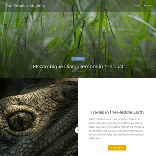 The Smaller Majority – Tales of Nature and Photography by Piotr Naskrecki