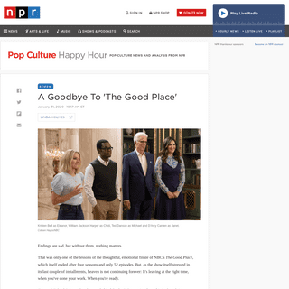 Review- 'The Good Place' Reaches A Satisfying End - NPR