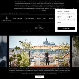 Italian Restaurant & Bar in Prague - Fine Dining - Four Seasons Hotel