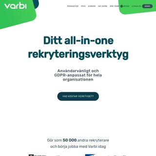 Varbi - Användarvänligt rekryteringssystem