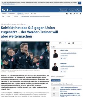 Werder Bremen- Florian Kohfeldt will nicht hinschmeißen! - Fußball