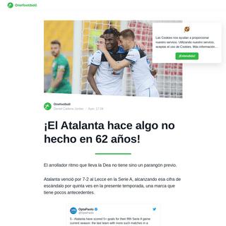 ¡El Atalanta hace algo no hecho en 62 años! - Onefootball Español