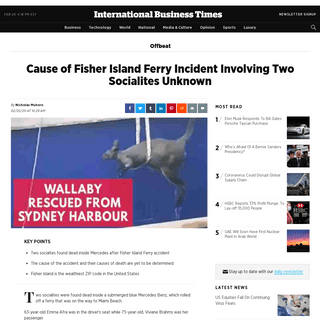 ArchiveBay.com - www.ibtimes.com/cause-fisher-island-ferry-incident-involving-two-socialites-unknown-2925850 - Cause of Fisher Island Ferry Incident Involving Two Socialites Unknown