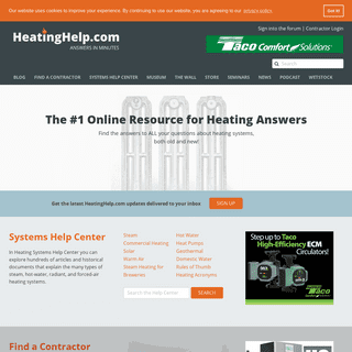 Heating Help #1 Online Resource for Heating Answers