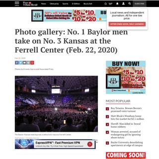Photo gallery- No. 1 Baylor men take on No. 3 Kansas at the Ferrell Center (Feb. 22, 2020) - Baylor Sports - wacotrib.com