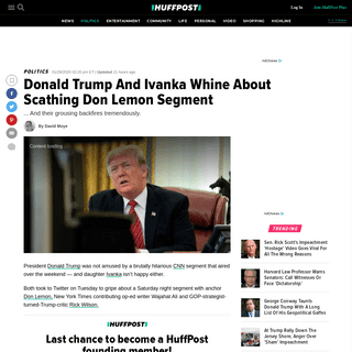 Donald Trump And Ivanka Whine About Scathing Don Lemon Segment - HuffPost
