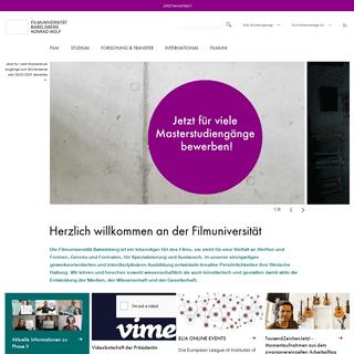 Filmuniversität Babelsberg KONRAD WOLF- Homepage der Filmuniversität Babelsberg KONRAD WOLF