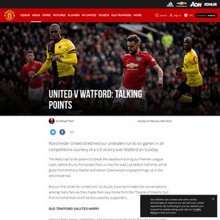 Man Utd v Watford talking points Old Trafford 23 February 2020 - Manchester United