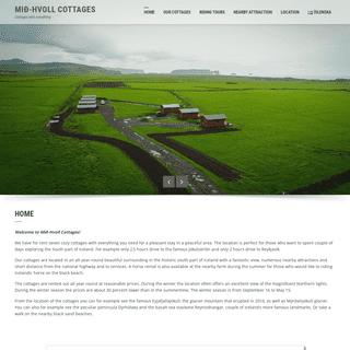 Mið-Hvoll Cottages – Cottages with everything