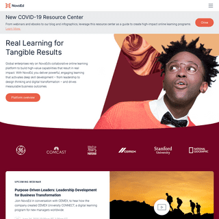 NovoEd- Online Learning Platform - Collaborative Learning for the Enterprise