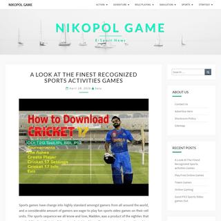 Nikopol Game - E-Sport News