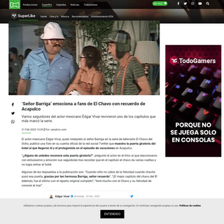Señor Barriga emociona a fans de El Chavo con recuerdo de Acapulco