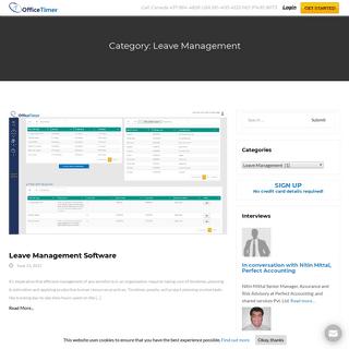 Leave Management Archives - OfficeTimer