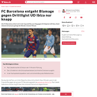 FC Barcelona entgeht Blamage gegen Drittligist UD Ibiza nur knapp