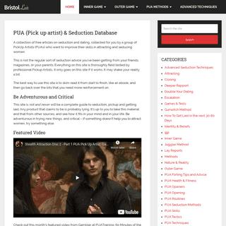 PUA (Pick up artist) & Seduction Database