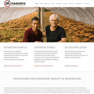 ArchiveBay.com - nammex.com - NAMMEX - Wholesale Organic Medicinal Mushroom Extracts