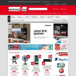 Elektronik Shop mit riesiger Auswahl - electronic4you