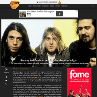 Nirvana y Kurt Cobain- los desadaptados a las primeras ligas