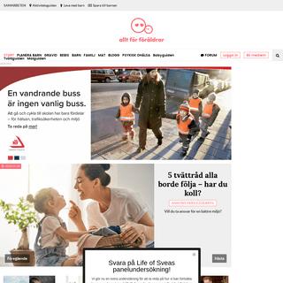 Allt för föräldrar - Sveriges största sajt om graviditet och föräldraskap - www.alltforforaldrar.se