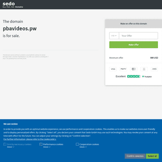pbavideos.pw is available for purchase - Sedo.com