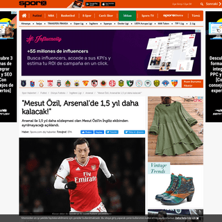 'Mesut Özil, Arsenal'de 1,5 yıl daha kalacak!' Mesut Özil Transfer haberleri