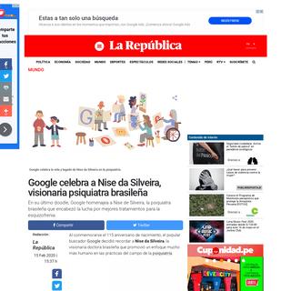 Google- doodle en homenaje a la psiquiatra brasileña Nise da Silveira - mdga - Mundo - La República