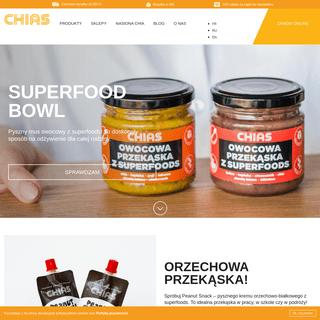 Chias Superfoods - płynne przekąski i fit desery z nasionami chia