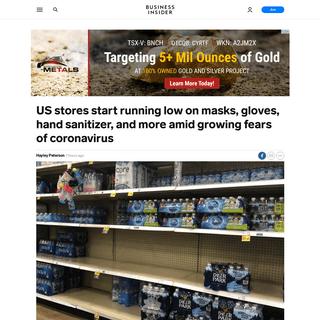 Coronavirus update- photos of empty shelves in US stores - Business Insider