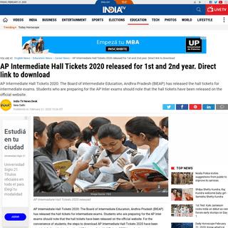 ArchiveBay.com - www.indiatvnews.com/education/career-ap-intermediate-hall-tickets-2020-released-direct-link-to-download-591007 - AP Intermediate Hall Tickets 2020 released for 1st and 2nd year. Direct link to download - Career News – India TV