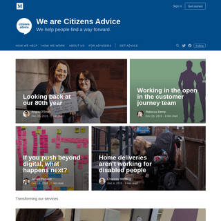 We are Citizens Advice