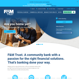 Home of Community Banking - F&M Trust