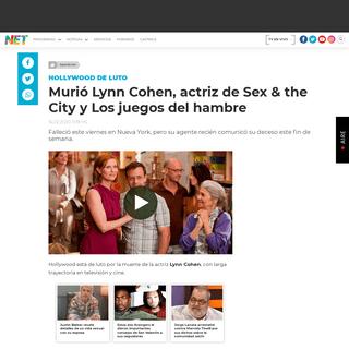 Murió Lynn Cohen, actriz de Sex & the City y Los juegos del hambre