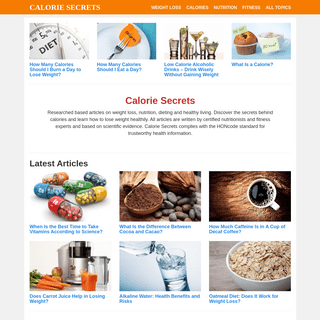Calorie Secrets - Weight Loss Tips and Nutrition Advice from Experts
