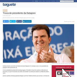 Troca de presidente da Dataprev - Notícias - Baguete