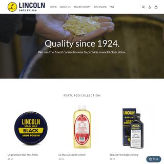 Lincoln Shoe Polish & Wax - Premium Shoe Care Products