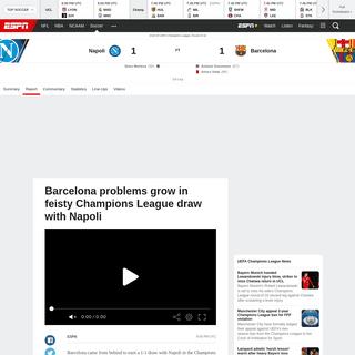 Napoli vs. Barcelona - Football Match Report - February 25, 2020 - ESPN