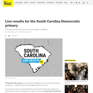 South Carolina primary live results 2020 - Vox