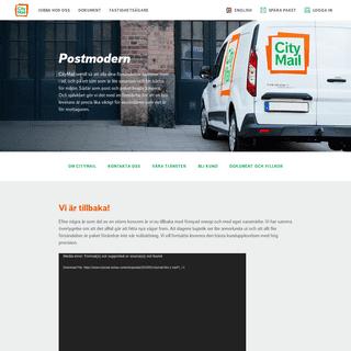 CityMail - smartare leverans av post och paket