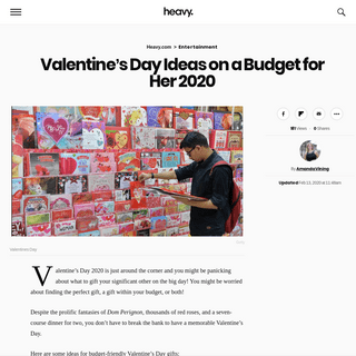 Valentine's Day Ideas on a Budget for Her 2020 - Heavy.com