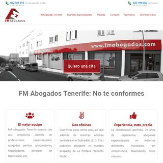FM Abogados Tenerife - Para los que no se conforman