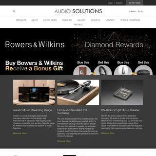 Audio Solutions The experts in audio solutions.