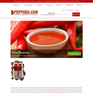 ArchiveBay.com - peppers.com - The World's Largest Collection of Hot Sauces, BBQ Sauces, Salsas - Home