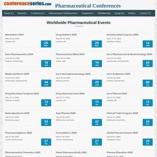 ArchiveBay.com - pharmaceuticalconferences.com - Pharmaceutical Conferences - Pharma Conferences - Drug Conferences - 2020 - 2021 - Conference Series Ltd Conferences