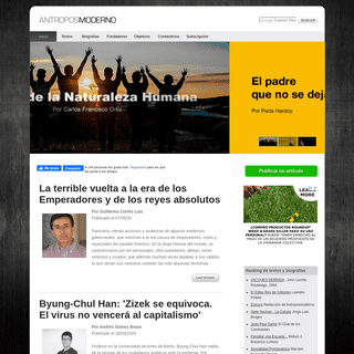 Antroposmoderno. Sitio de habla hispana y portuguesa dedicado al pensamiento psicoanalítico y posmoderno