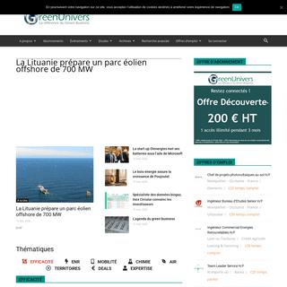 ArchiveBay.com - greenunivers.com - Le site de référence du Green Business - GreenUnivers - GreenUnivers