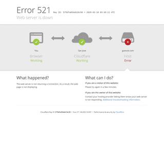 gunook.com - 521- Web server is down