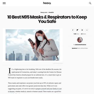 10 Best N95 Masks & Respirators (2020) - Heavy.com